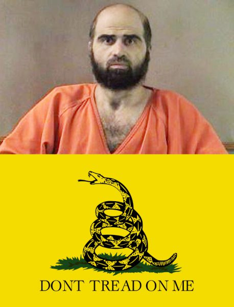 Terrorist Nidal Hassan contrapposto a simbolo del Tea Party