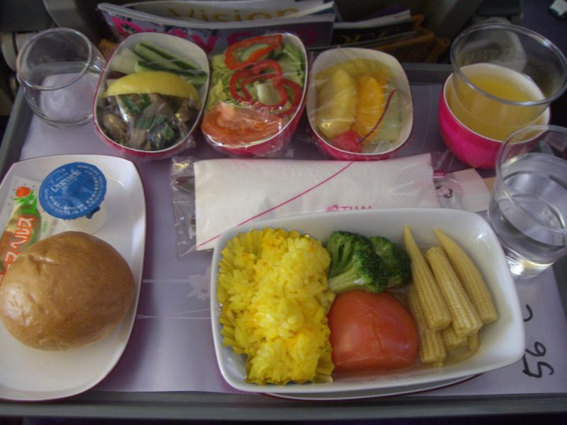 vegetarian meal @Thai Airways