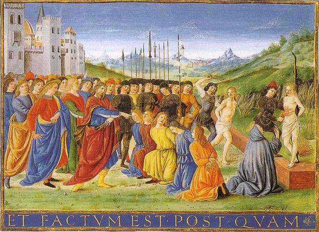 Quadro raffigurante il martirio dei 7 fratelli Maccabei