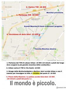 mappa Sesto San Giovanni con indicazioni attentato di Berlino
