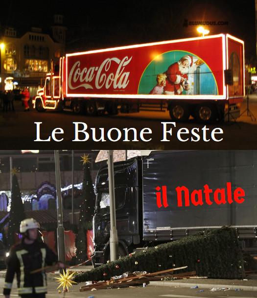 2 scene. Babbo Natale sul camion commerciale artefatto, il Natale di sangue col camion che ha ucciso a Berlino
