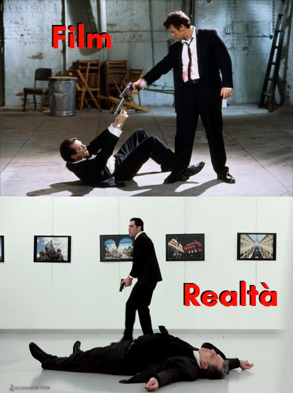 somiglianze tra Le Iene (Reservoir Dogs) e l'assassinio dell'Ambasciatore Russo ad Istanbul.