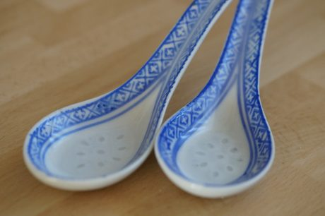 Chinese ceramic spoons