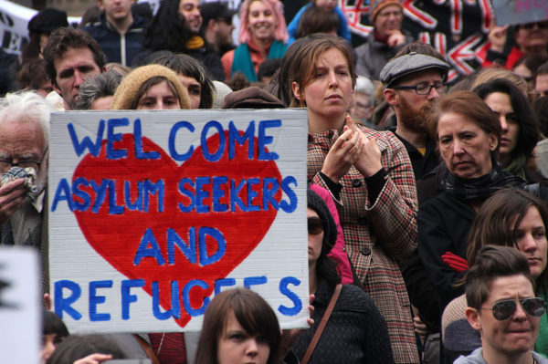 """welcome asylum seekers and refugees"""