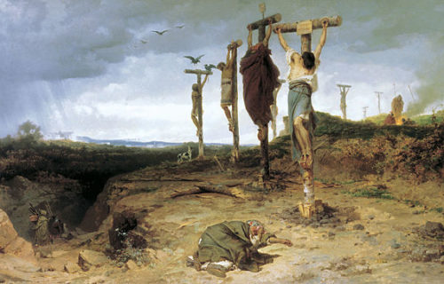 crucified slaves
